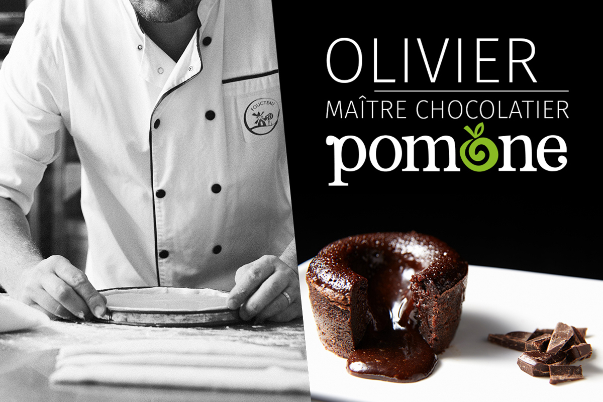Olivier, Maître Chocolatier, 20 years of passion along with Pomone.
