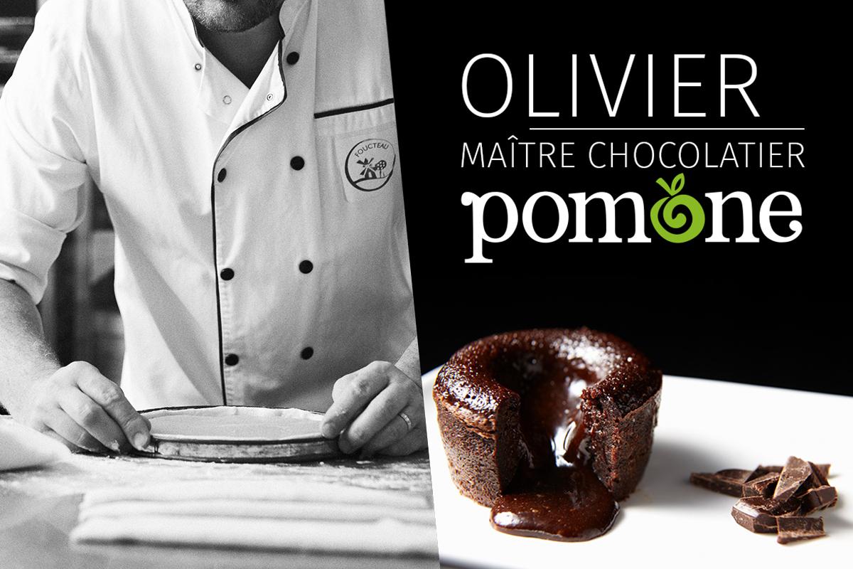 Olivier, Maître Chocolatier, 20 ans de passion avec Pomone